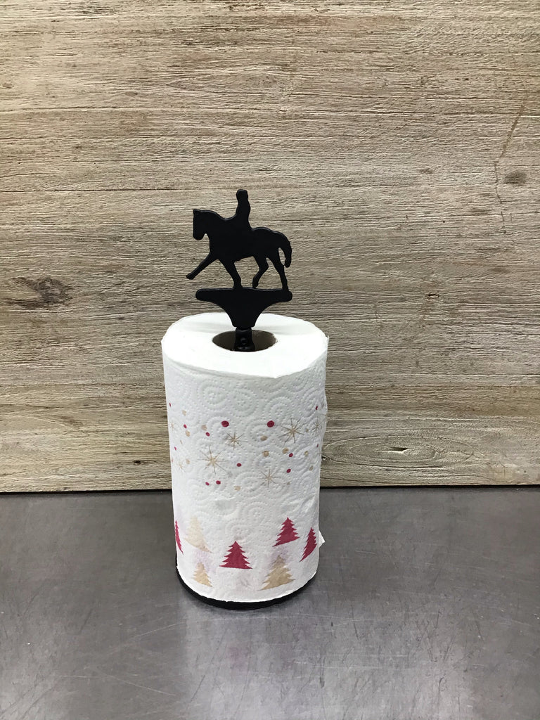 Dressage Horse Paper Towel Roll Holder