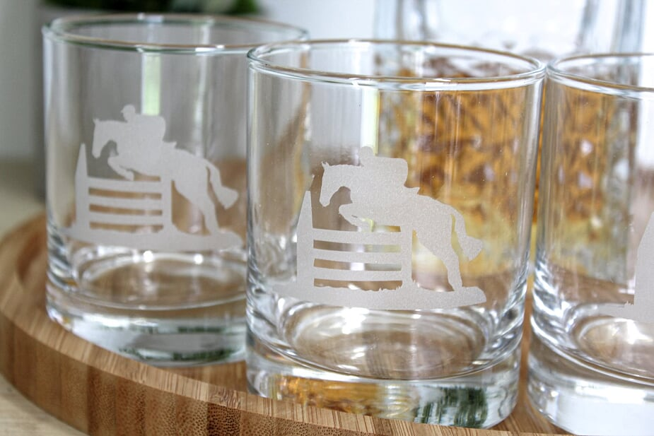 Jumping Glass Tumbler Set