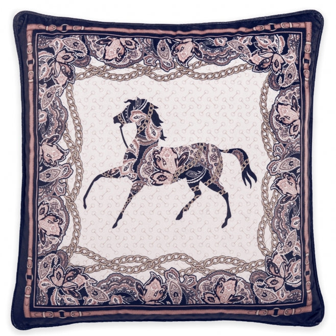 Black Arabic Horse  Cushion