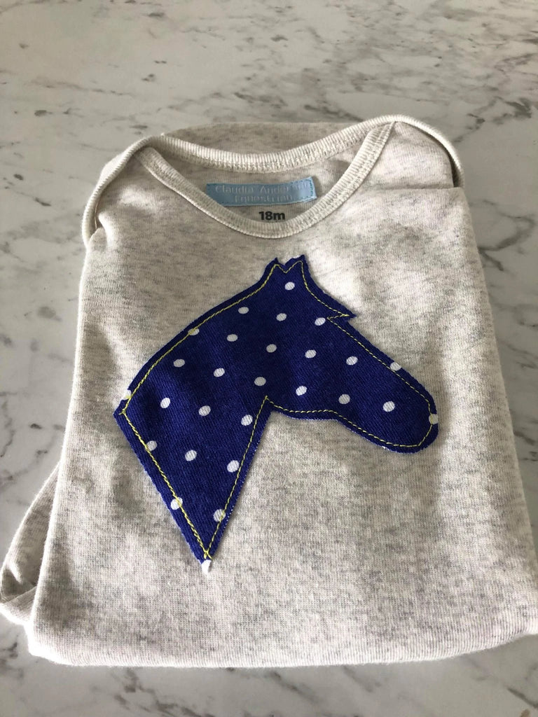 Grey/ Blue with Spots Body Suit