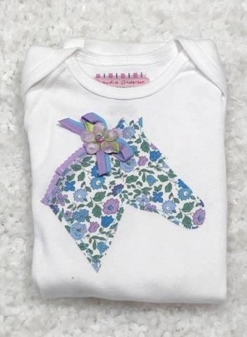 Lilac Blue Floral Infant Body Suit