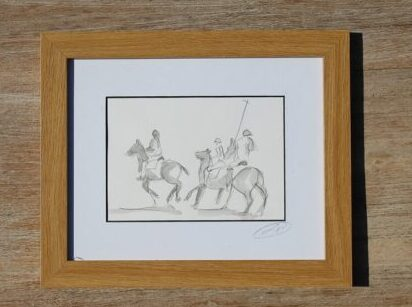 Polo Sketch , Framed