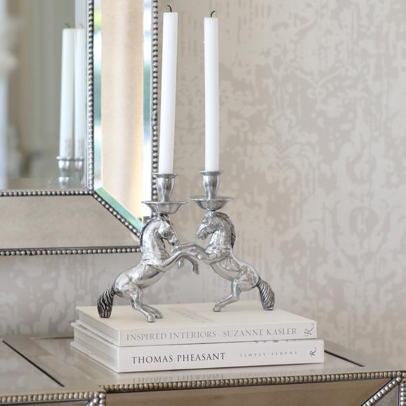 Rearing Horse Candle Stick Holder