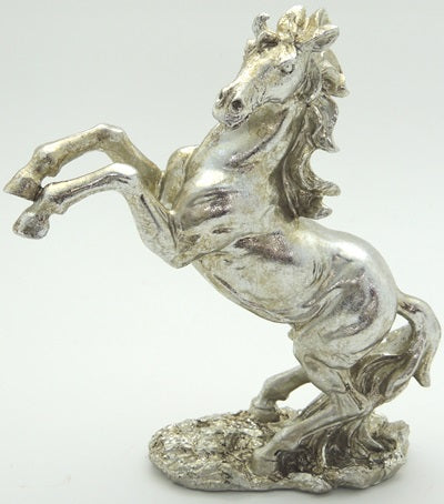 Silver Rearing Horse
