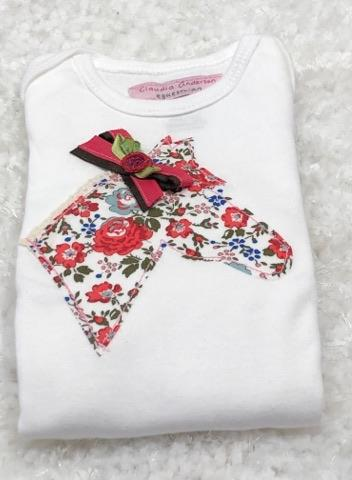 Red Floral Infant Body Suit