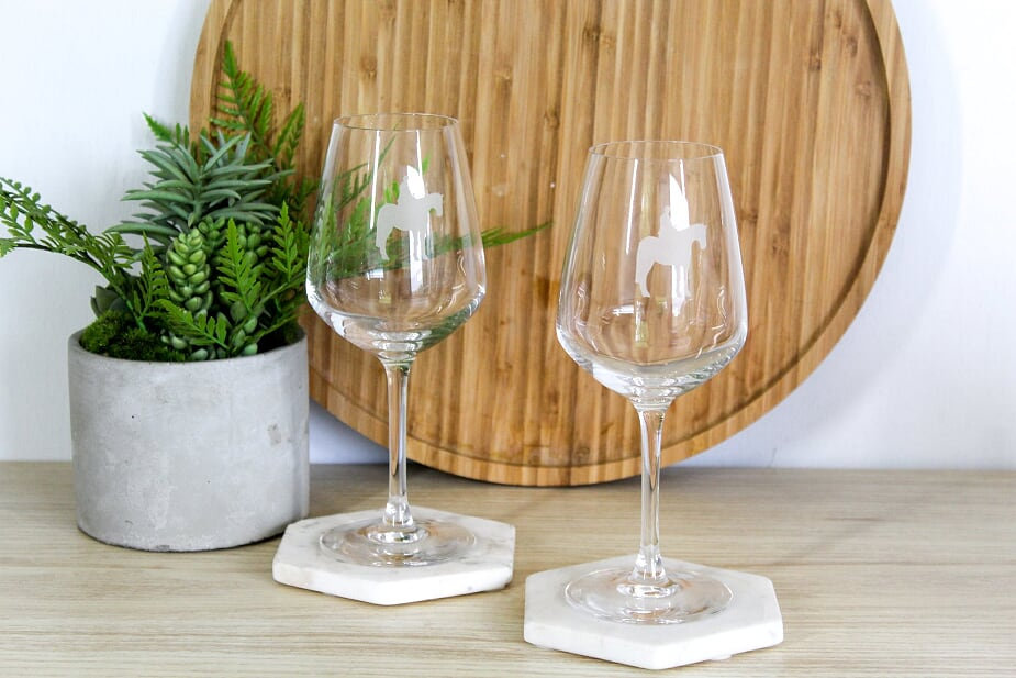 Sidesaddle Wine Glasses