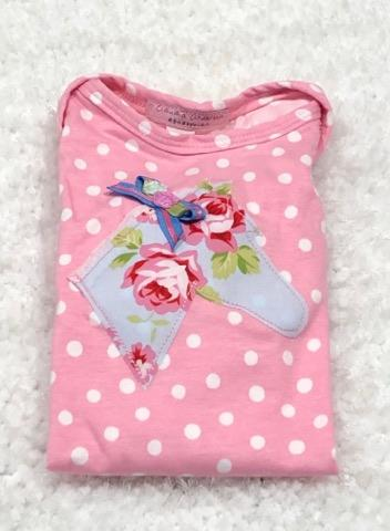 Pink Polka Dots Infant Body Suit