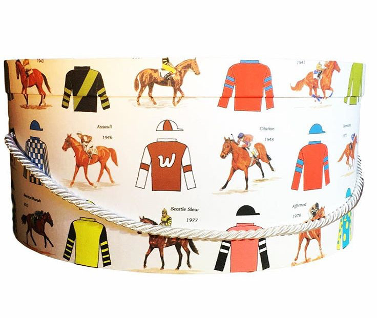 "Triple Crown Winners  16"" Hat Box"
