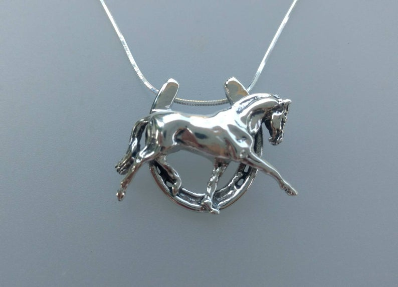 Extended Trot in Horseshoe Necklace