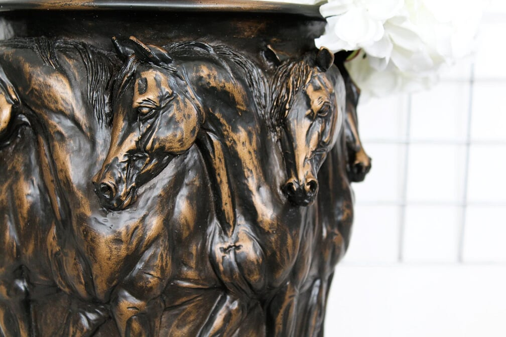 Ring Of Horses Centre Piece Vase