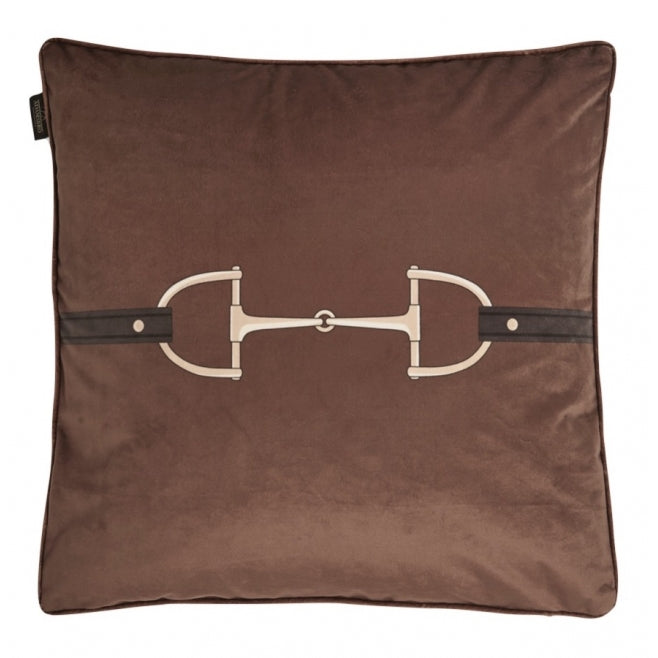Velvet Snaffle Bit Cushion, Cinnamon