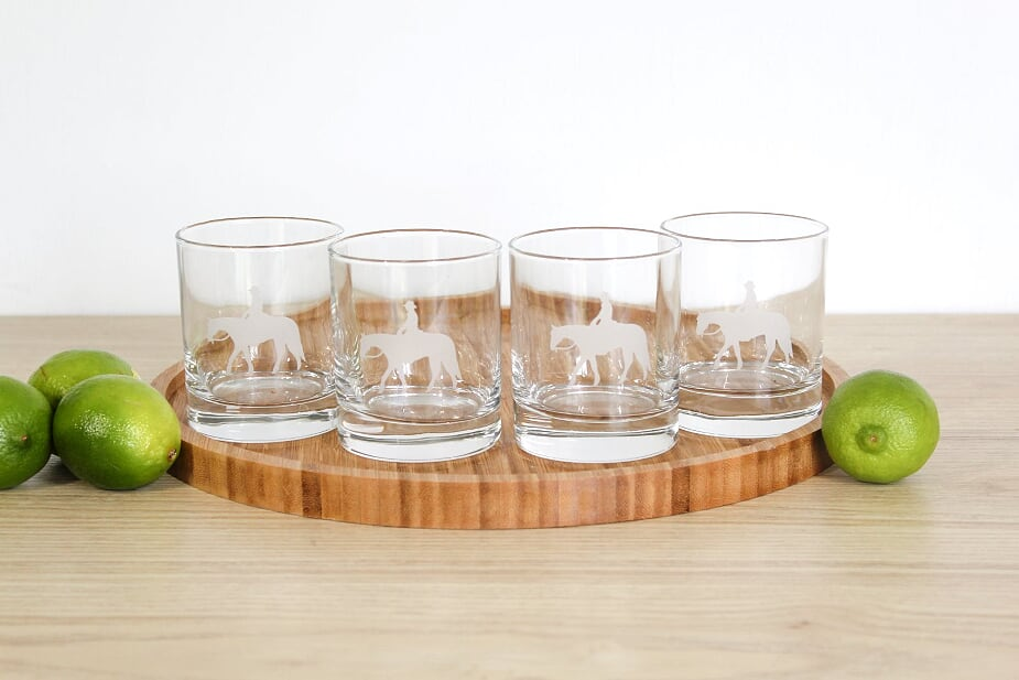 Western Glass Tumbler Set