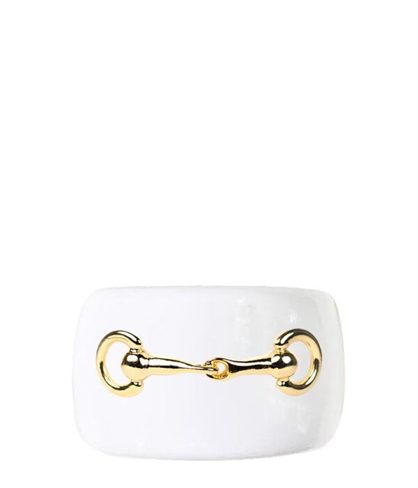 Large Snaffle Cuff -White