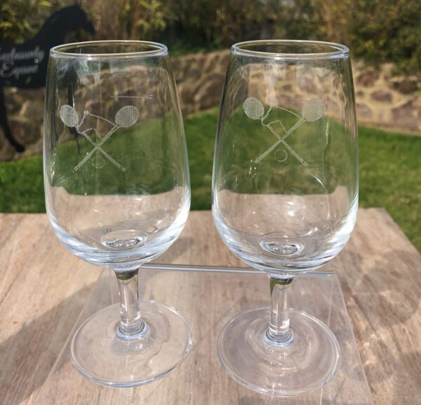 Polo Cross Wine Glasses