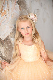 Champagne Confetti- Floor Length Dress (5 Year-Petite 8 Year)