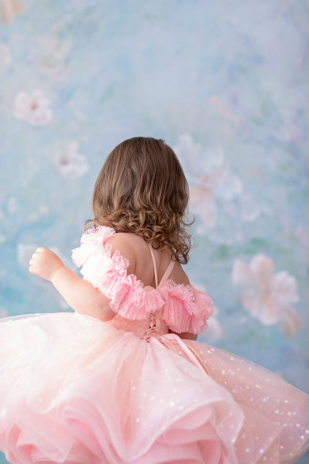 Petal Pink Confetti- Short Length Dress (4 Year-Petite 6 Year)