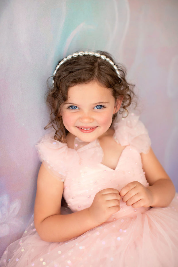 Pink Confetti- Floor Length Dress (2 Year-Petite 5 Year)