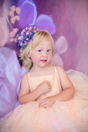 Petal Champagne Confetti- Short Length Dress (2 Year-Petite 5 Year)