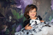 "Petal ""Butterfly Song""- black/white Short Length Dress (2 Year - Petite 4 Year) -"