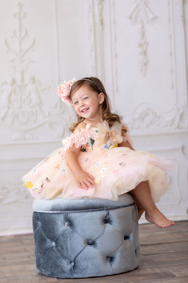 "Petal ""Suzy""- Short Length Dress (2 Year - Petite 4 Year) -"