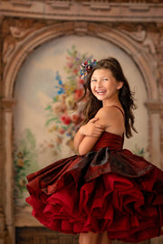 "Petal ""Holly in Ruby""- Short Length Dress (5 Year-Petite 8 Year)"