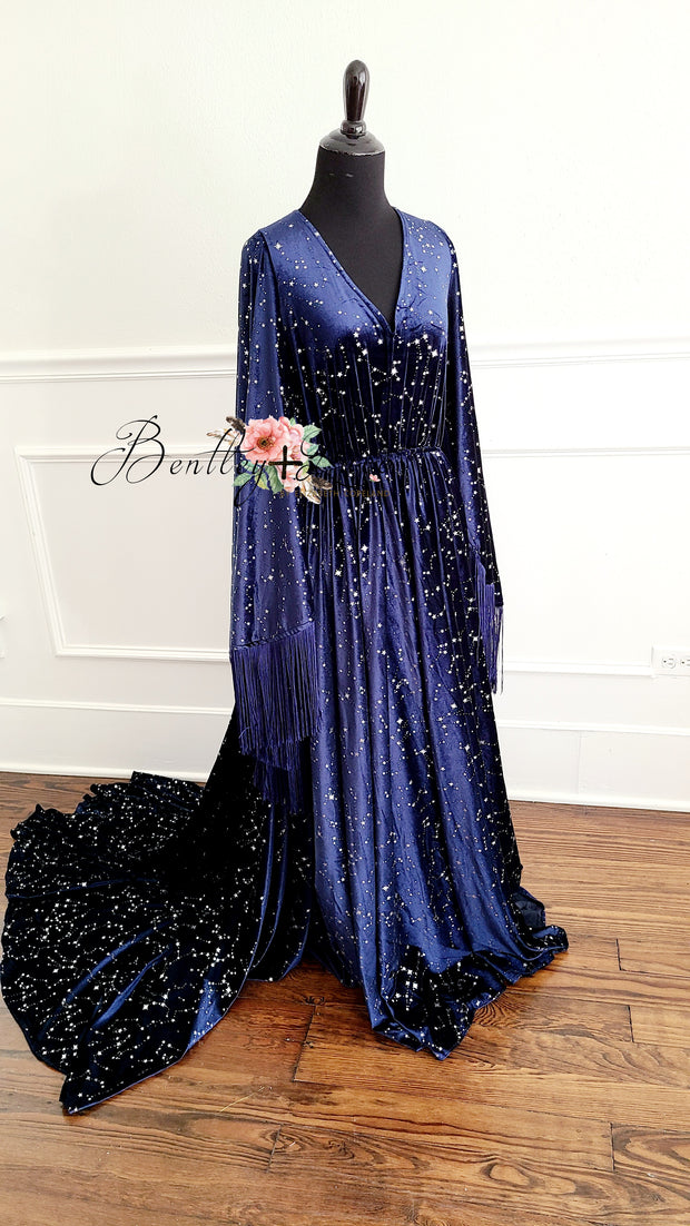 Nova-in Blue- Beautiful boho inspired gown - Teen -  Adult