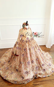 """FALLing Softly"" -  Floor long Length Dress - ( 6 Year - Petite 9 Year)"