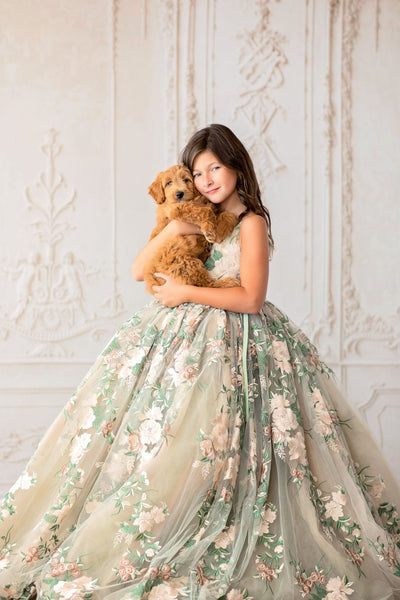 """Brynn"" -  Floor long Length Dress ( 6 Year - Petite 11 Year)"