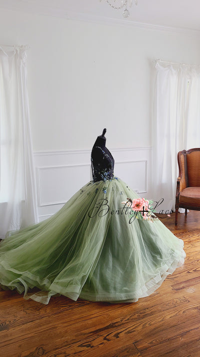 Olive-Beautiful floor long gown - Teen- Adult