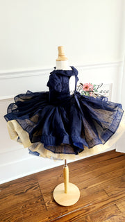 """Ellysyn"" -  Petal Length Dress + Bloomers  - ( 4 Year - Petite 6 Year)"