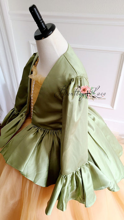 Sage green satin jacket