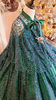 """Evergreen"" - Dress+Shawl Floor Length Dress ( 6 Year - Petite 10 Year)"