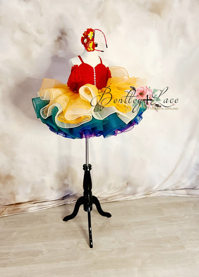 """Rainbow Hope"" Petal Length Dress (3 Year-Petite 5 Year)"