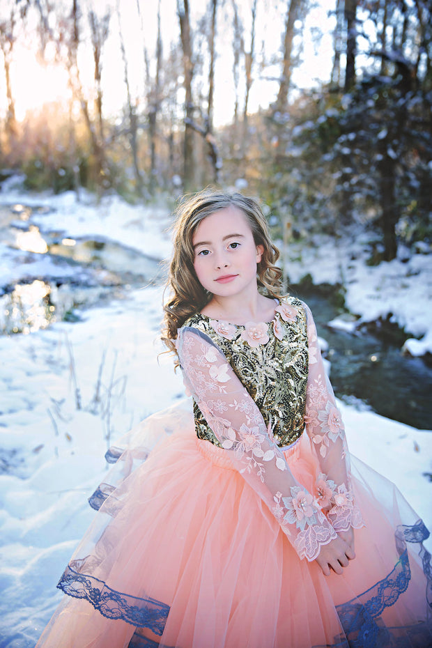 """Miracle"" Flower Girl Dress,  Special Occasion Dress"