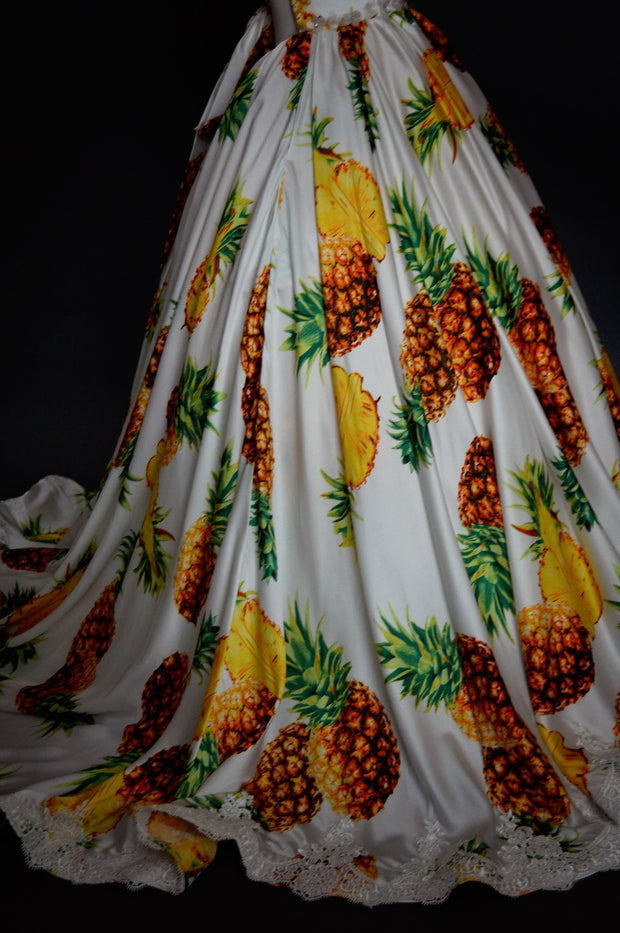 """Sweet June"" Flower Girl Dress,  Special Occasion Pineapple Dress"