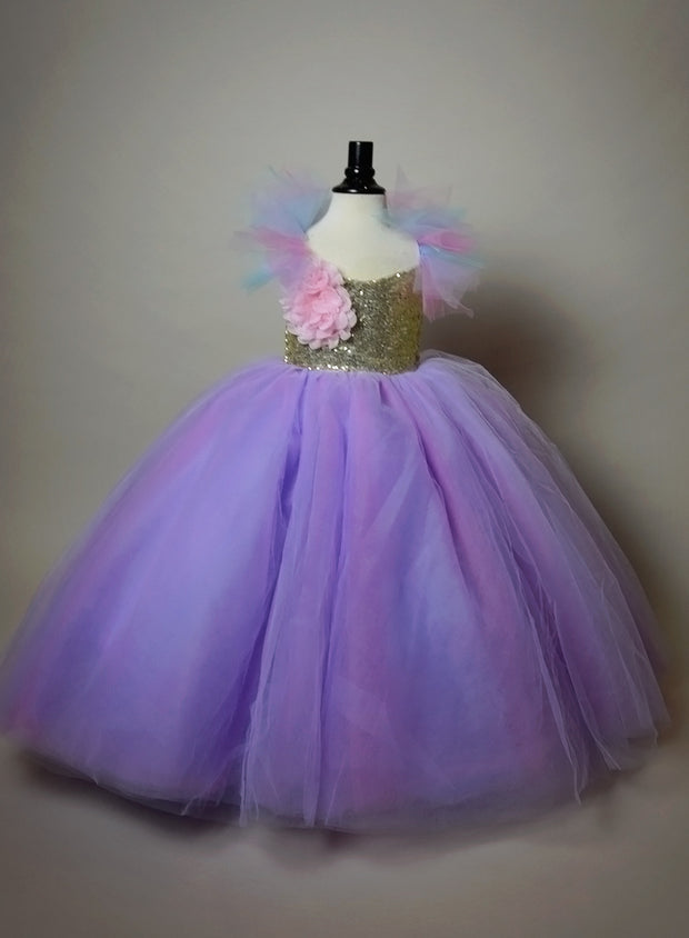"""UNICORN SPARKLE"" Flower Girl Dress,  Special Occasion Dress"