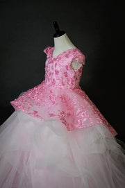 """Hiram"" Special Edition Gown- Editorial Dress, Couture Gown, Flower Girl Dress,  Special Occasion Dress"