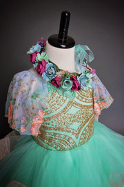 Reese Floral Tieback Halo- Child/Adult (only available with Dress rental orders)