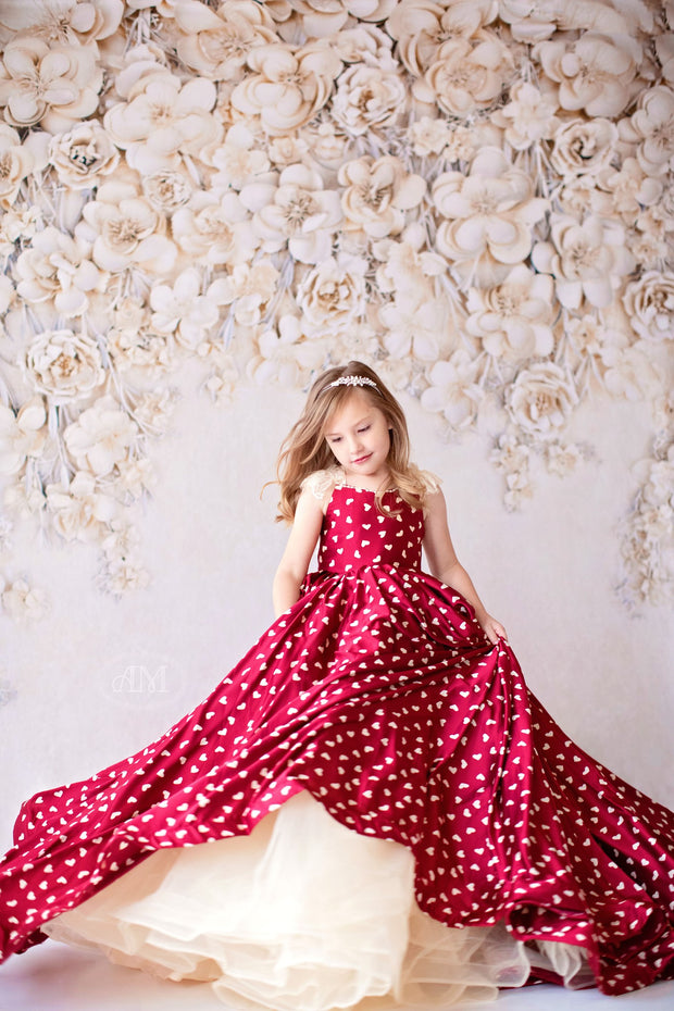 Sweethearts SILK Floor length gown (5 YEAR-PETITE 11 YEAR)