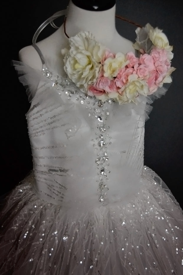 """Shine"" Flower Girl Dress,  Special Occasion Dress"