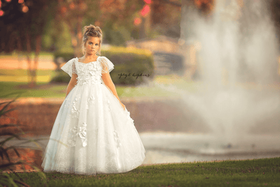 """Serenity"" Flower Girl Dress,  Special Occasion Dress"