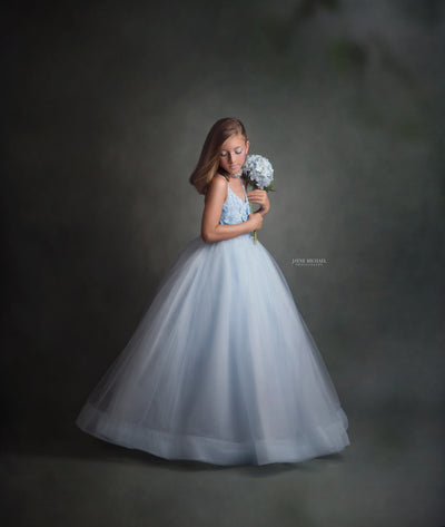 Heavenly- Tulle Gown- Gorgeous special occasion or photo shoot dress (8 Year-Petite 12 Year)