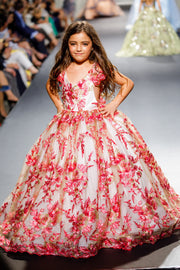 """Zoe"" Special Edition Gown- Editorial Dress, Couture Gown, Flower Girl Dress,  Special Occasion Dress"