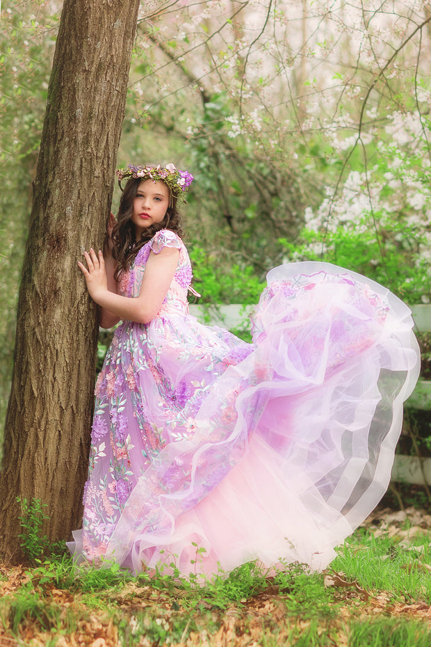 """Bloom"" Flower Girl Dress,  Special Occasion Dress"