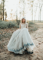 """Chantale"" Special Edition Gown- Editorial Dress, Couture Gown, Flower Girl Dress,  Special Occasion Dress"