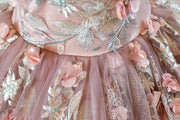 Elizabeth- Shades of Blush Dress (6 Year-Petite 13 Year)