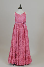 "LORELEI - in ""Rose Pink"" Lace Dress(4 YEAR-PETITE 12 YEAR) new condition"