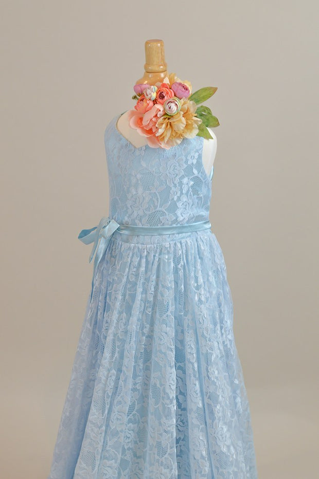 "LORELEI -  in ""Sky Blue"" Lace Dress (4 YEAR-PETITE 12 YEAR)new condition"