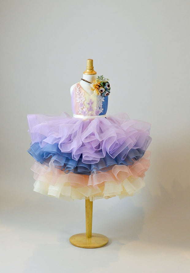 "PETAL ""RAINBOW DELIGHT""- SHORT LENGTH DRESS (5 YEAR-PETITE 12 YEAR)"