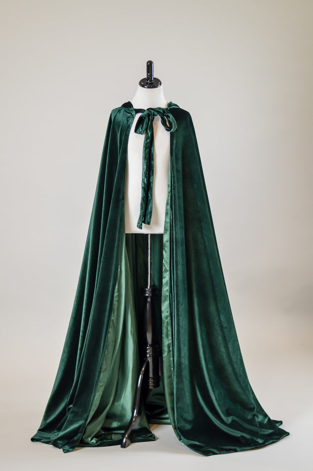 Josephine Velvet Cape- Jewel Green